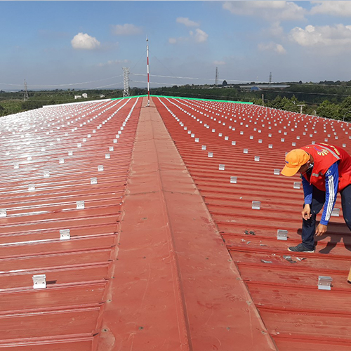 1MW Metal Roof Mounting Project in Vietnam 2020